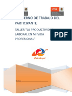 Cuaderno Del Participante Taller La Productividad Laboral en Mi Vida Profesional (1)