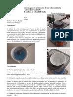 hidraytación del Sulfato de cobre