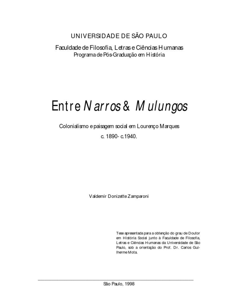 Colonialismo e paisagem social em Lourenço Marques cp000276 f8b9fd22c8057