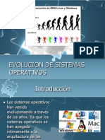 Evolucion de Sistemas Operativos