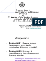 5 FAO Progress Report RETA 6521 Activities- S Sareen