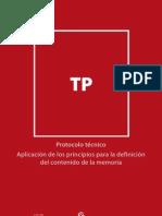Protocolo técnico - Aplicación de los principios