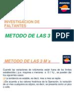 INVESTIGACION DE FALTANTES