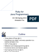 Slides Chapter 3 Part 1 Ruby for Java Programmers