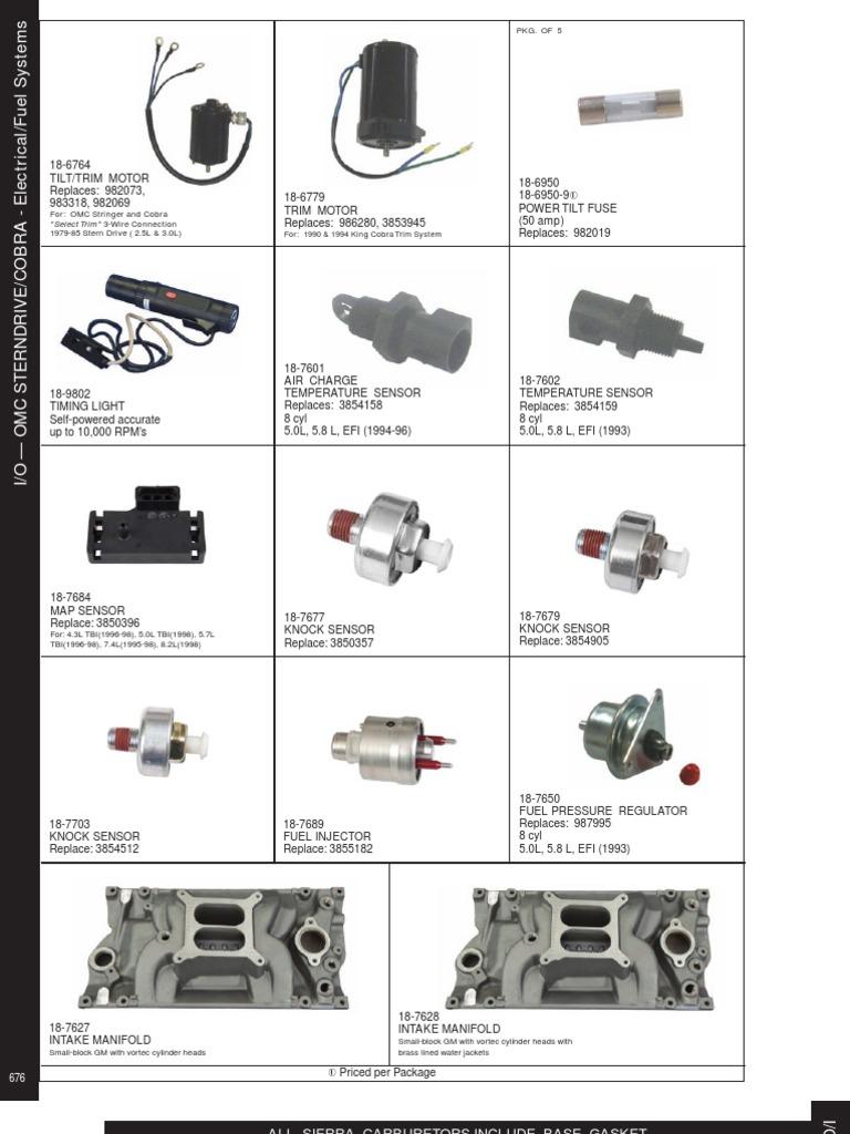 OMC Fuel System Parts | Carburetor | Fuel Injection