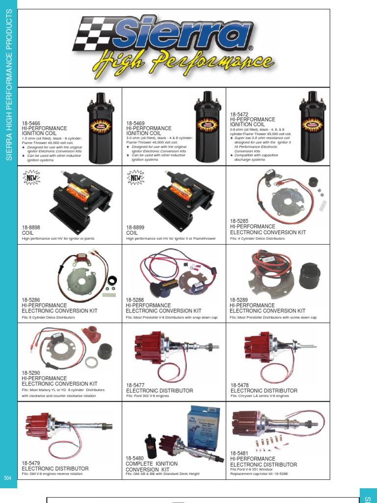 Sierra High Performance Parts | Carburetor | V8 Engine