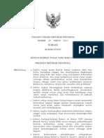 UU No 20 Tahun 2011 Tentang Rumah Susun