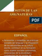 4.- PROPÓSITOS DE LAS ASIGNATURAS 2006