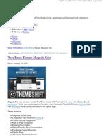 WordPress Theme_ Magasin Uno_manual