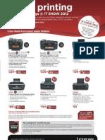 Lexmark IT Show 2012 flyers