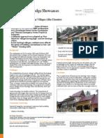 Rebuilding Low-Heritage Villages After Disasters