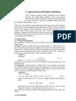 Kalkulus Variasi Dan Kontrol Optimal