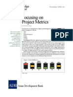 Focusing on Project Metrics