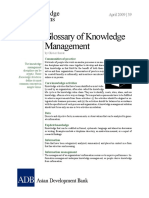 Glossary of Knowledge Management