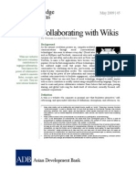 Collaborating With Wikis