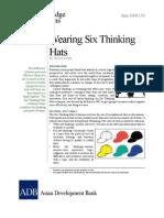 Wearing Six Thinking Hats