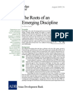 The Roots of an Emerging Discipline
