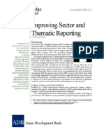 Improving Sector and Thematic Reporting