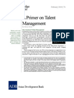 A Primer on Talent Management
