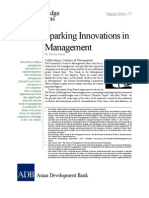 Sparking Innovations in Management