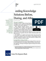 Seeding Knowledge Solutions Before, During, and After