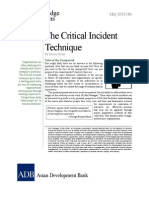 The Critical Incident Technique