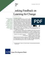 Seeking Feedback on Learning for Change