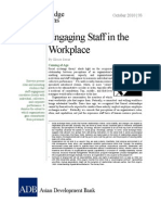 Engaging Staff in the Workplace