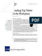 Leading Top Talent in the Workplace