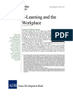 E-Learning and the Workplace