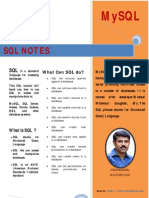 SQL Notes by Vikas Kadakkal