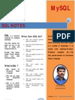 SQL Notes by Vikas Kadakkal