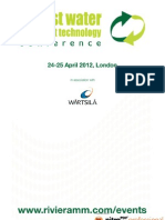 Ballast Water Treatment Technology Conference 24-25 April, London.