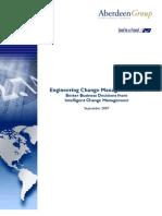Engineering Change Management Aberdeen Report