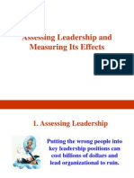 Assessing Leadership and Measuring Its Effects