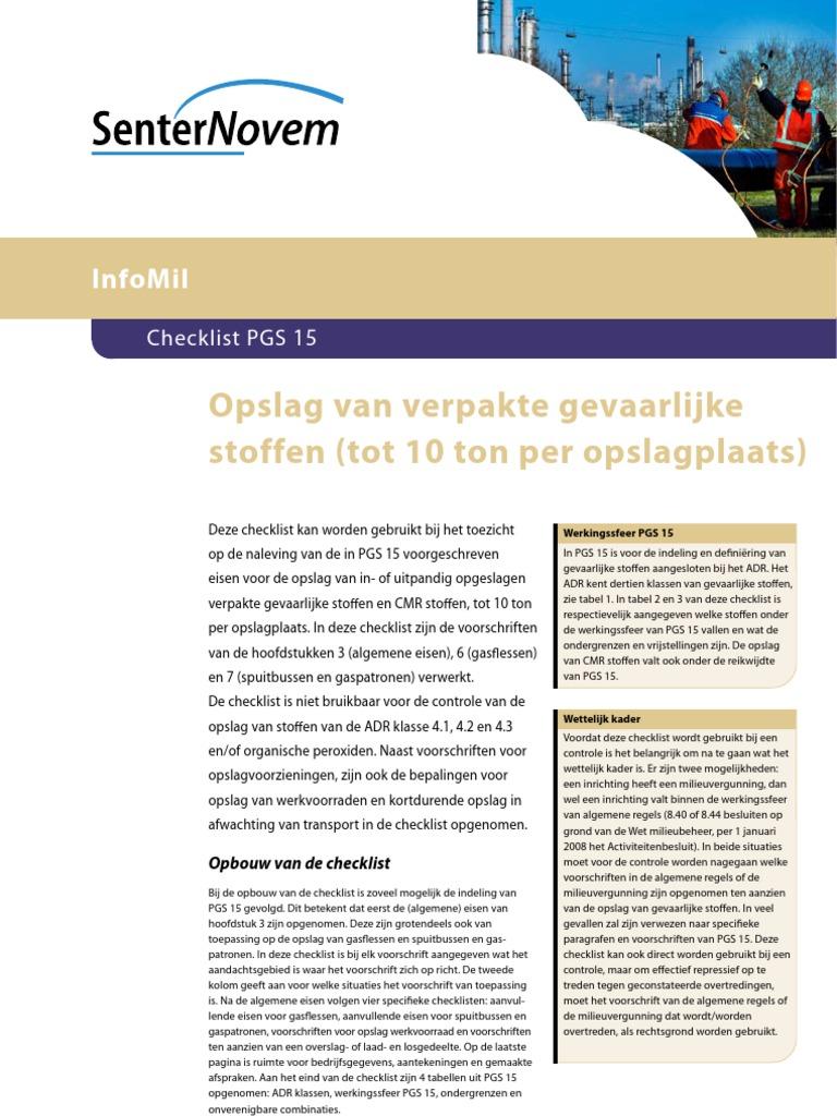 Checklist Pgs 15
