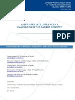 A new step in cluster policy evaluation in the Basque Country (Eng) / Un nuevo paso en la evaluación de la política clúster en el País Vasco (Ing) / Beste urrats bat EAEn kluster politika ebaluatzeko bidean (Ing)