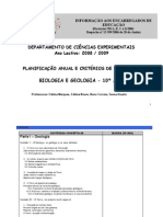 Planificação  2007- 2008 E.E.