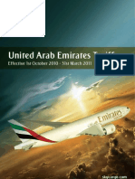 United Arab Emirates Tariff - 1st October 2010 to 31st March 2011