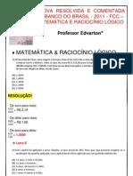 Prova Resolvida e Comentada Do Banco Do Brasil-2011