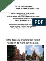Presentasi Peter Carey di Sanata Dharma_7 Maret 2012_Metode Riset Sejarah_Membosankan atau Mengasyikkan?