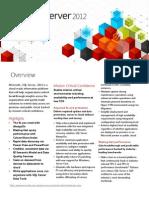 SQL Server 2012 Overview