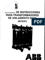 ABB Manual de Instrucciones Para Transform Adores de to Seco