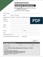 Registration Form International-conference