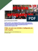 Noticias Uruguayas Jueves 8 de Marzo de 2012