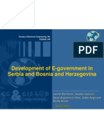 Development of E-Government in Serbia and Bosnia and Herzegovina