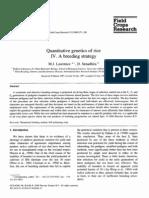 Quantitative Genetics of Rice