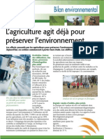 Bilan environnemental de l'agriculture aujourd'hui (Aficar )