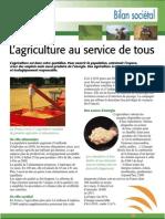 Bilan Societal de l'agriculture aujourd'hui (Aficar )