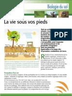 Biologie des sols - production sans travail du sol (Aficar )
